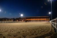 Reitplatz bei Nacht